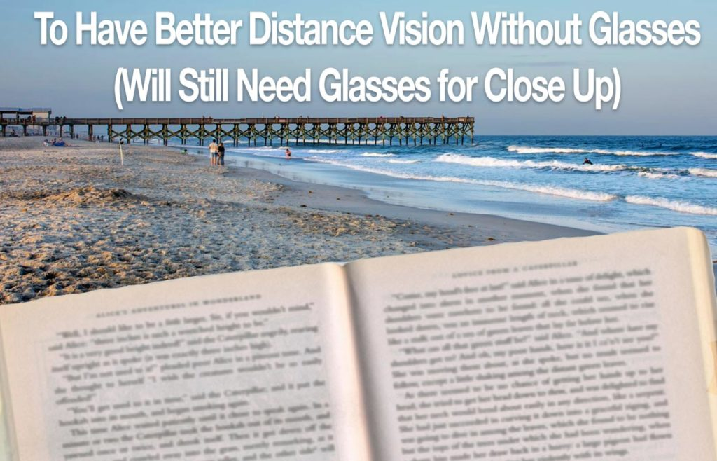 Vision Goal - To have better distance vision without glasses (Will still need glasses for close up)